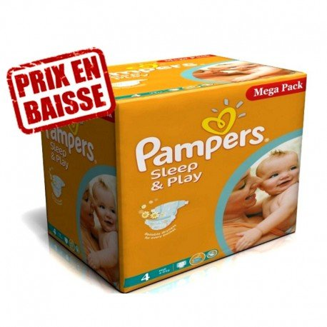 216 Couches Pampers Sleep & Play taille 4 sur Sos Couches