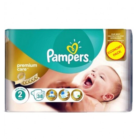 38 Couches Pampers New Baby - Premium Care taille 2 sur Sos Couches