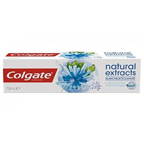 Dentifrice Colgate Natural Extracts Blancheur Eclatante sur Sos Couches
