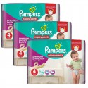 128 Couches Pampers Active Fit - Pants taille 4 sur Sos Couches