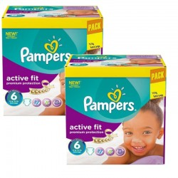 240 Couches Pampers Active Fit - Premiun Protection taille 6