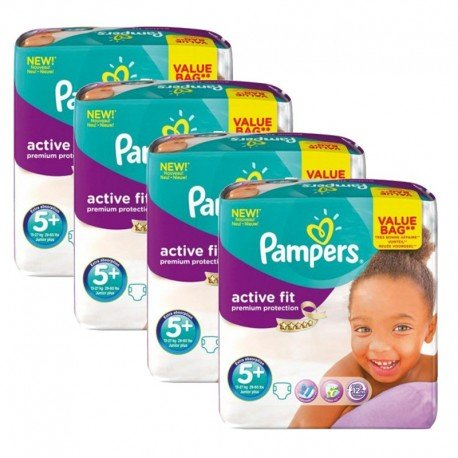 128 Couches Pampers Active Fit - Premium Protection taille 5+ sur Sos Couches
