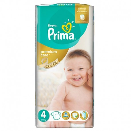 20 Couches Pampers Premium Care - Prima taille 4 sur Sos Couches
