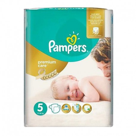 26 Couches Pampers Premium Care - Prima taille 5 sur Sos Couches