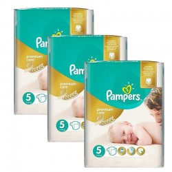 208 Couches Pampers Premium Care - Prima taille 5