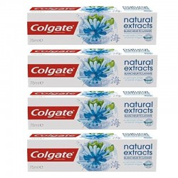 4 Dentifrices Colgate Natural Extracts Blancheur Eclatante