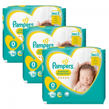 72 Couches Pampers New Baby Premium Protection taille 0 sur Sos Couches