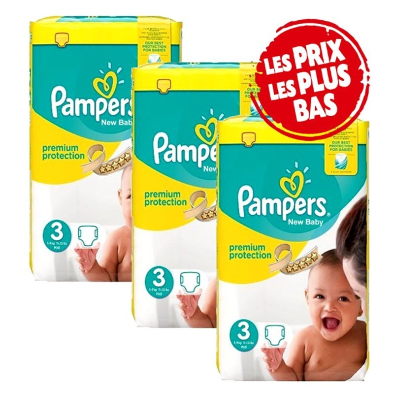 Achat 200 couches pampers new baby taille 3 bas prix sur sos couches - Couches pampers naissance ...