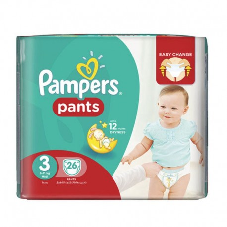26 Couches Pampers Baby Dry Pants taille 3 sur Sos Couches