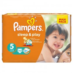 42 Couches Pampers Sleep & Play taille 5