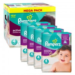 504 Couches Pampers Active Fit Premium Protection taille 4