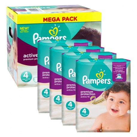 504 Couches Pampers Active Fit - Premium Protection taille 4 sur Sos Couches