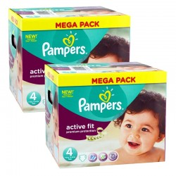 840 Couches Pampers Active Fit Premium Protection taille 4