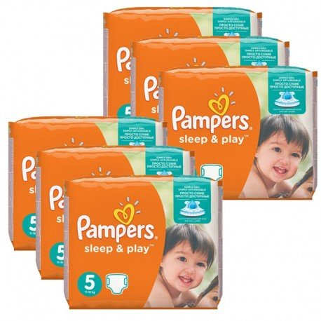 232 Couches Pampers Sleep & Play taille 5 sur Sos Couches