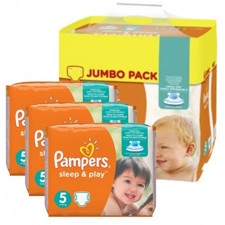348 Couches Pampers Sleep & Play taille 5 sur Sos Couches