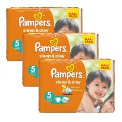 126 Couches Pampers Sleep & Play taille 5