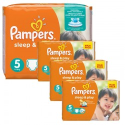 252 Couches Pampers Sleep & Play taille 5