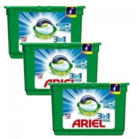 Lot de 3 Ariel Pods 16 Original 3in1 (454,4 gr) sur Sos Couches