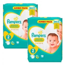 136 Couches Pampers new baby - premium protection taille 2
