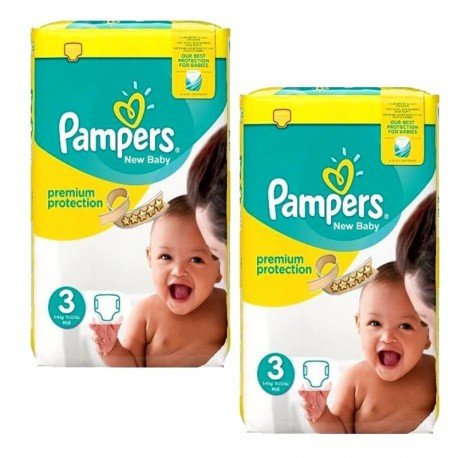 100 Couches Pampers premium protection taille 3 sur Sos Couches