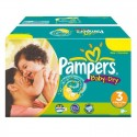 374 Couches Pampers Baby Dry taille 3 sur Sos Couches