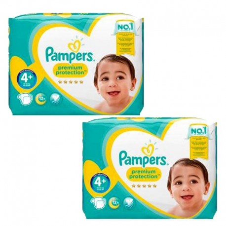 124 Couches Pampers new baby - premium protection taille 4+ sur Sos Couches