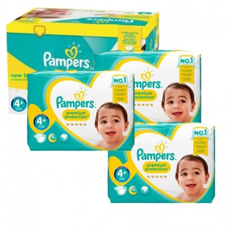 248 Couches Pampers New Baby Premium Protection taille 4+ sur Sos Couches