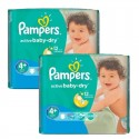 108 Couches Pampers Active Baby Dry taille 4+ sur Sos Couches