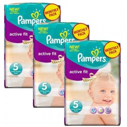 282 Couches Pampers Active Fit taille 5