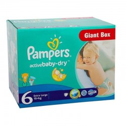 126 Couches Pampers Active Baby Dry taille 6