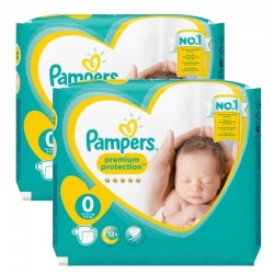 48 Couches Pampers New Baby Premium Protection taille 0