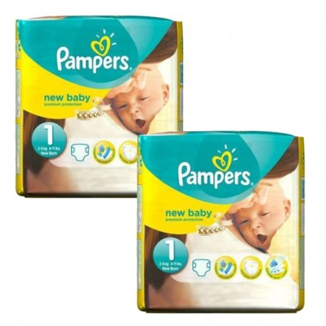 46 Couches Pampers new baby - premium protection taille 1 sur Sos Couches