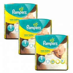 69 Couches Pampers new baby - premium protection taille 1