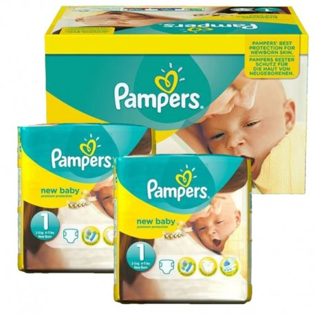 138 Couches Pampers new baby - premium protection taille 1 sur Sos Couches