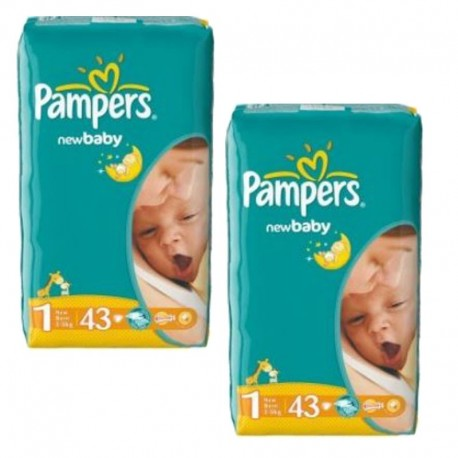 86 Couches Pampers New Baby Dry taille 1 sur Sos Couches