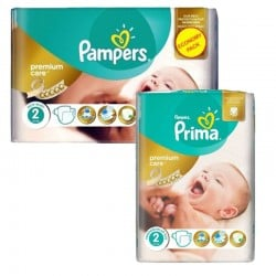 114 Couches Pampers New Baby Premium Care taille 2