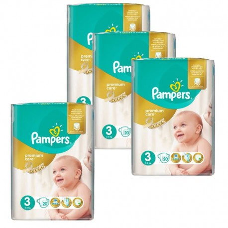 100 Couches Pampers Premium Care - Prima taille 3 sur Sos Couches