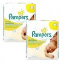 504 Lingettes Bébés Pampers Sensitive Baby - 9 Packs de 56 sur Sos Couches
