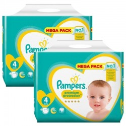 156 Couches Pampers new baby - premium protection taille 4