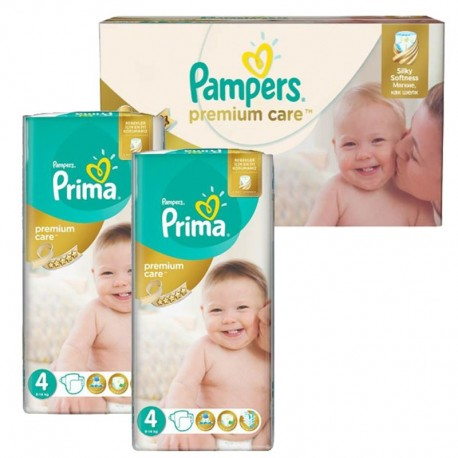 120 Couches Pampers Premium Care - Prima taille 4 sur Sos Couches