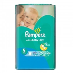 88 Couches Pampers Active Baby Dry taille 5
