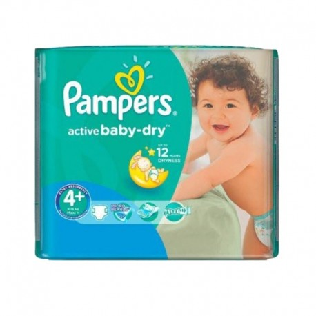 70 Couches Pampers Active Baby Dry taille 4+ sur Sos Couches