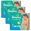 140 Couches Pampers Active Baby Dry taille 4+ sur Sos Couches