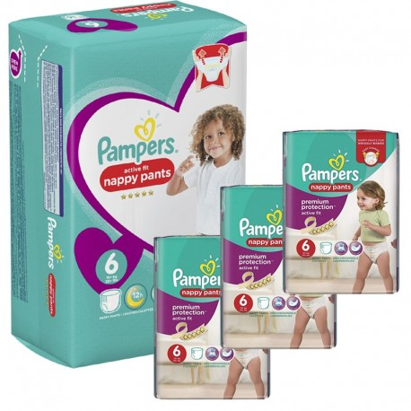 140 Couches Pampers Active Fit - Pants taille 6 sur Sos Couches
