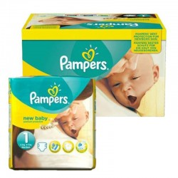 96 Couches Pampers new baby - premium protection taille 1