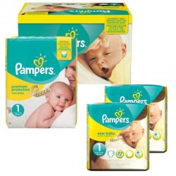 192 Couches Pampers New Baby Premium Protection taille 1