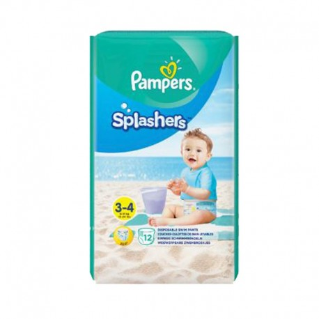 12 Couches de bains Pampers Splashers taille 3 sur Sos Couches