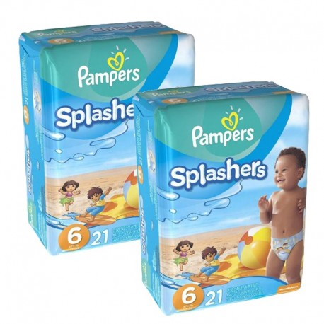 42 Couches Pampers Swimming Pants Splachers taille 6 sur Sos Couches