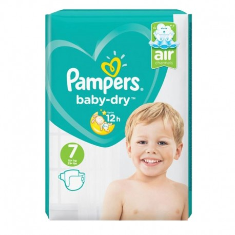72 Couches Pampers Baby Dry taille 7 sur Sos Couches