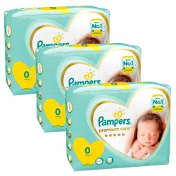 90 Couches Pampers New Baby Premium Care taille 0